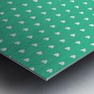 Shamrock Heart Shape Pattern Metal print