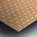 Sandy Brown Heart Shape Pattern Metal print