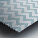 AQUAMARINE CHEVRON Metal print