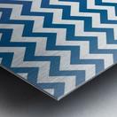 BLUEBERRY CHEVRON Metal print