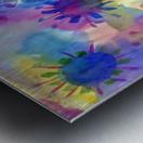Watercolor blots Metal print