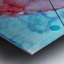 Blue under Lines  Metal print