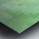 Abstract Pixel Picture - Green shades  Metal print