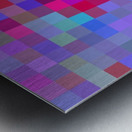 geometric square pixel pattern abstract background in pink blue purple Metal print
