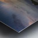 Dusk at Mumbles lighthouse Metal print