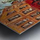 RUE ST VIATEUR NEAR CLARK MONTREAL PAINTING WINTER SCENE WITH HOCKEY Metal print