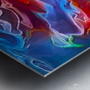 Blue Flames - multicolor abstract swirls Metal print