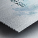 Modern Art TAKE ME TO THE SEA | jazzy watercolor Metal print