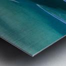 Teal Abstraction Metal print