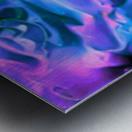 Purple Ice - purple blue abstract swirl wall art Metal print