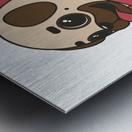 pug donut sweets tasty bun Metal print