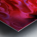 Red Field - violet black pink swirls abstract wall art Metal print