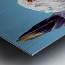 chicken pop art blue Metal print