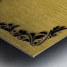 Gold illustration for interior decoration 3 Metal print