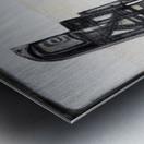 almost black white 6 Metal print