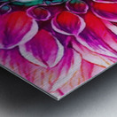 Red flower and Green Metal print