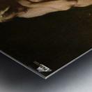 Nude bather by the waterside Metal print