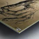 Study of Three Hands Metal print