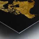 Golden World Map Metal print