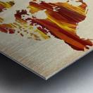 Watercolor Silhouette World Map Terra Lines Metal print