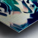 Crystal Spine - green white blue multicolor abstract swirl wall art Metal print