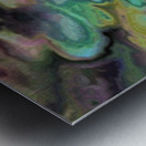 Dark Rainbow Marble multicolor abstract pattern wall art Metal print