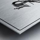 monogram  musical  vctrzd BBB Metal print