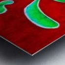 Cactus on Green Table Metal print