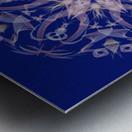 Limited Edition - Blue Graphic Art Healing Mandala 1005 Metal print