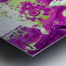 Sofa & Pillows -- Purple & Green Metal print