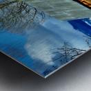Winter Homestead  Metal print