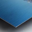 Tetons In the Fog Metal print