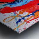 Saxophone Watercolor Metal print