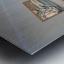 monogram art    snow water falls 2 Metal print