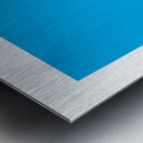 Solid Cyan Process color with word Metal print