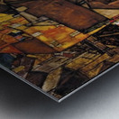 Egon Schiele - Crescent of Houses Metal print