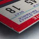 1962 Kansas State vs. Nebraska Cornhuskers Ticket Stub Metal print