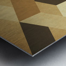 Textured Shapes 07 - Abstract Geometric Art Print Metal print