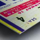 1969 Cal Bears Ticket Stub Metal print