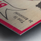 1980 Bama Football Player Flag Art_Tuscaloosa Alabama_Bryant Denny Stadium_Ticket Stub Art Creations Metal print