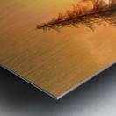 Pine Woods Sunset Fantasy Metal print
