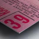 1970_Major League Baseball_Boston Red Sox Ticket Stub Art_Fenway Park Artwork_Red Sox vs. Orioles Metal print