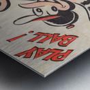 vintage baltimore orioles play ball art cartoon baseball poster metal canvas acrylic art Metal print