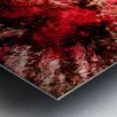 Red burst Metal print