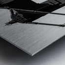 Threading the Needle - Golden Gate Bridge in Black and White Metal print