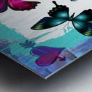 Whimsical Morpho Butterflies in Vivid Colors Metal print