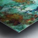 Turquoise terrain Metal print