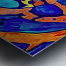 Blue Orange Clash Metal print