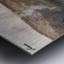 Soleil couchant sur l'Arques a Pequigny Metal print