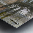 Snowy landscape Impression metal